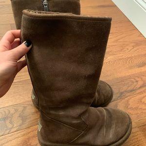 Zip up Ugg boots